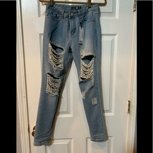 Boohoo boyfriend jeans NWT